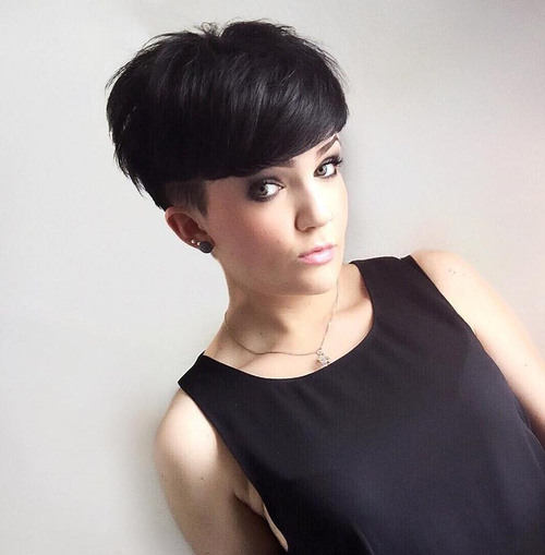 64: Perfect Choppy Pixie Haircuts with Temple Undercut