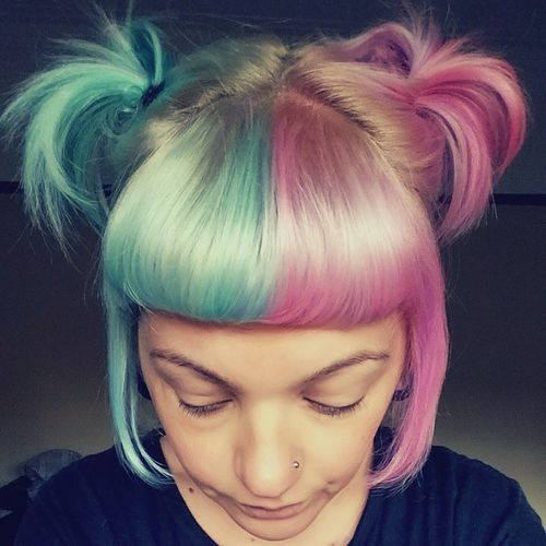 images 20 Cotton Candy Hairstyles That Are as Sweet as Can Be