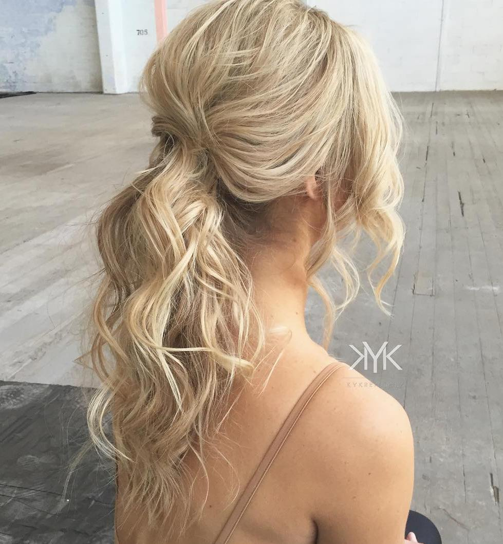Wavy Blonde Ponytail