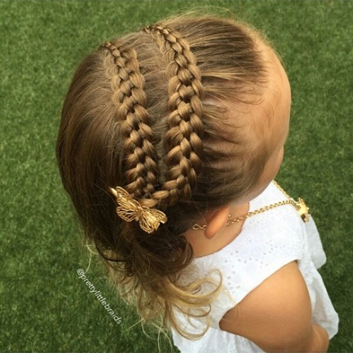hairstyle for shorter hair with double braid