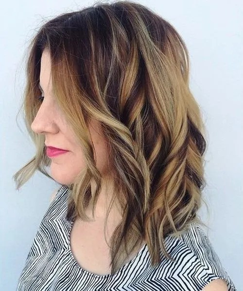 medium brown hair with blonde ombre highlights