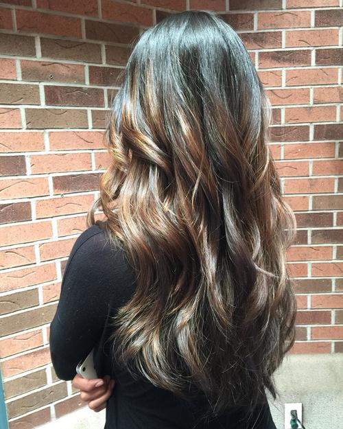 v layered hair