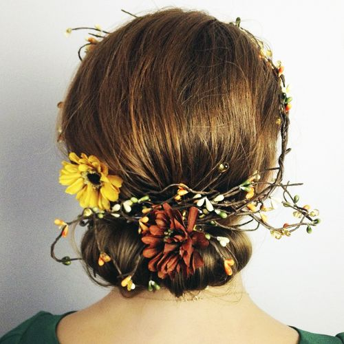 simple rustic chignon