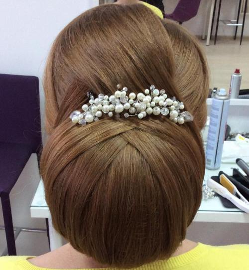 Big Smooth Chignon Updo
