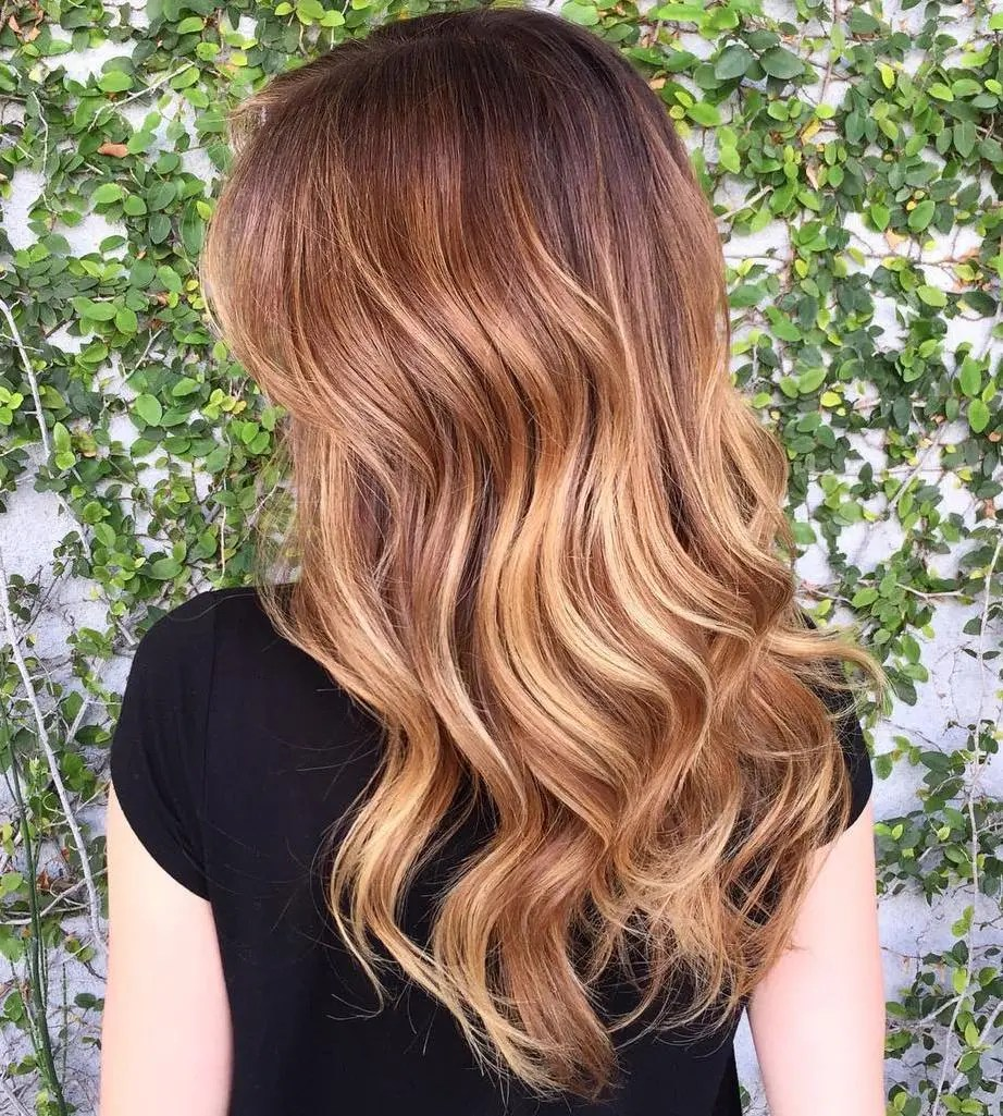 Brown Hair With Strawberry Blonde Highlights