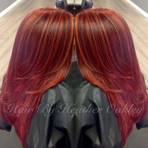 Orange hair highlights