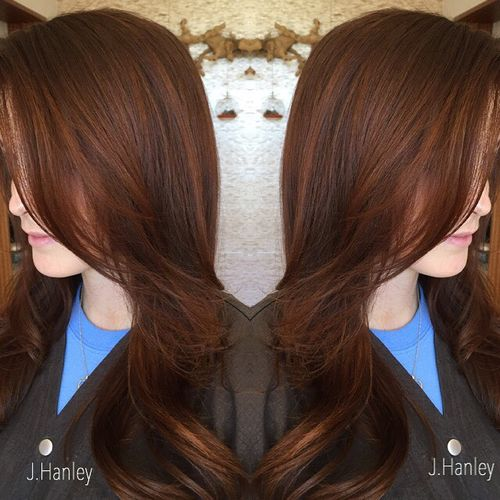 Chocolate brown hair color auburn highlights trendy hairstyles chocolate brown hair color auburn highlights pmusecretfo Image collections