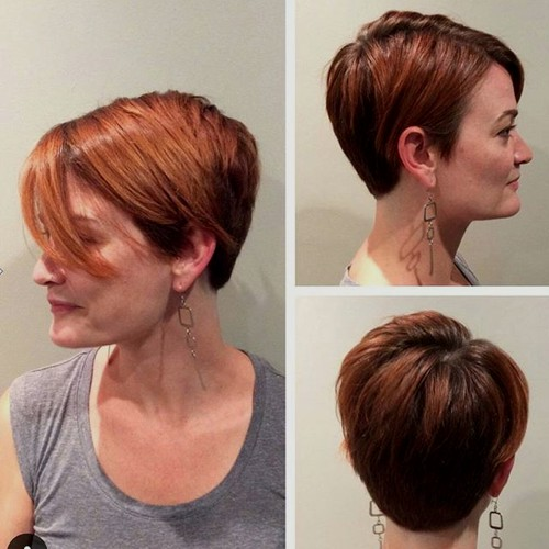 long red pixie with highlights