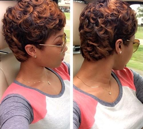short permed hair for African American women