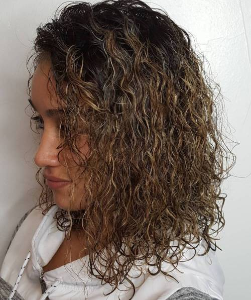 Permed Lob With Highlights