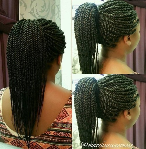 Ponytail For Rope Twists