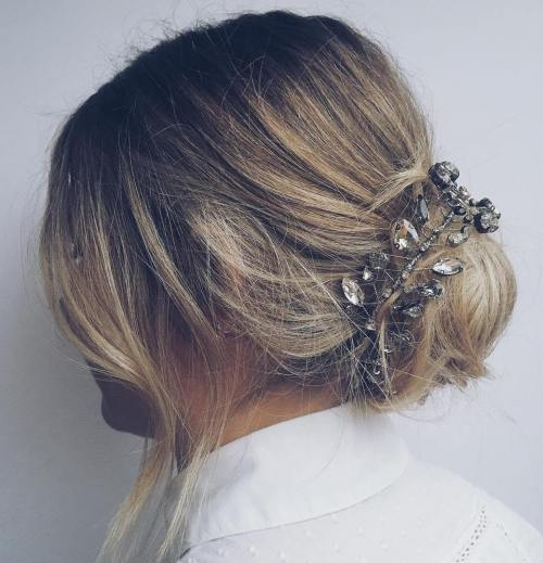 Messy Bun For Ombre Hair