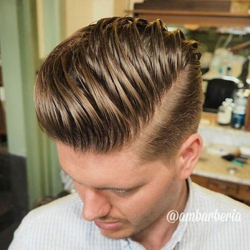 high pompadour hairstyle for guys