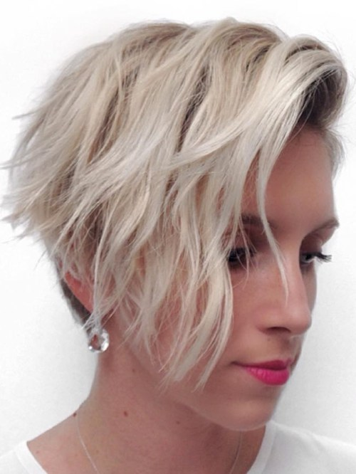 two-tone long top short sides asymmetrical pixie