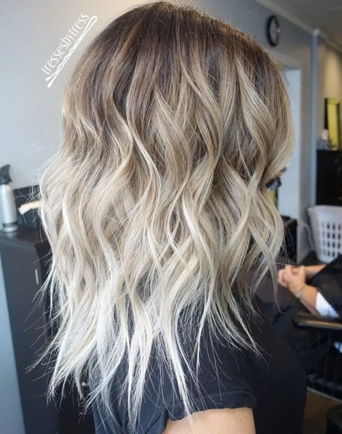 40 hair olor ideas with white and platinum blonde hair - Ombre braun blond ...