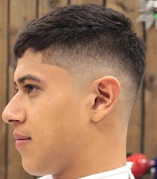 mid fade Caesar Haircut