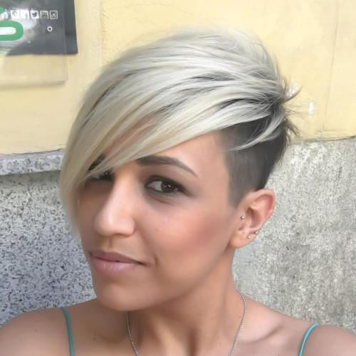 Two-Tone Asymmetrical Pixie Undercut