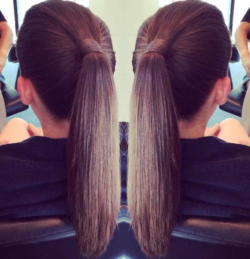 sleek pony hairstyle