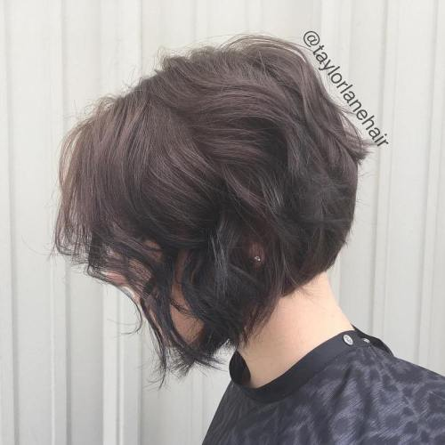 Wavy Brown Bob Hairstyle