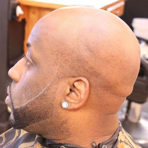 bald head and a beard for black men