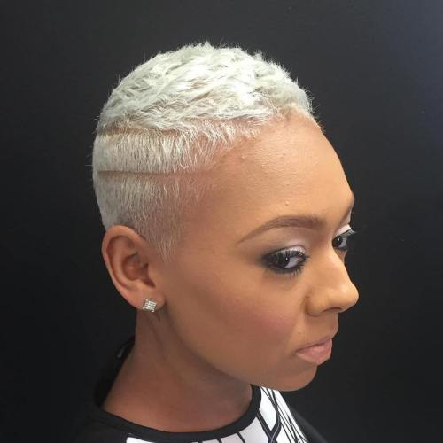 short platinum blonde natural hair
