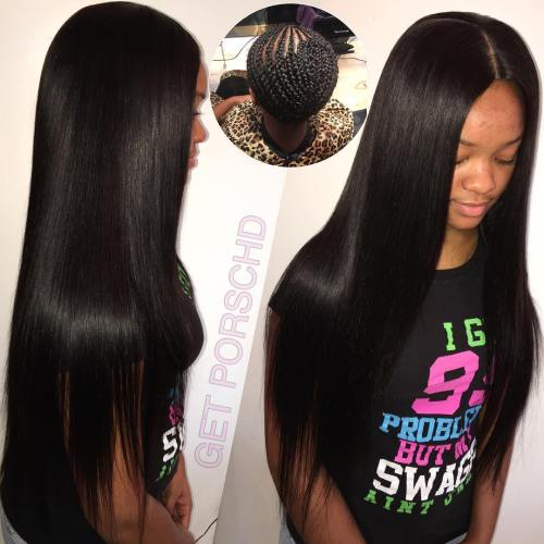 Long Sew In Hairstyle