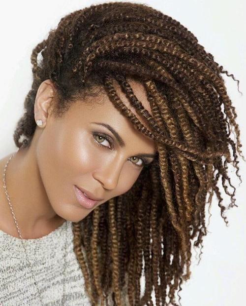 30 Hot Kinky Twists Hairstyles to Try in 2016