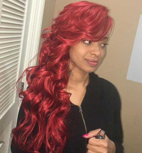 long red weave