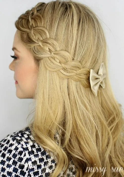 Surprising 20 Trendy Half Braided Hairstyles Hairstyle Inspiration Daily Dogsangcom