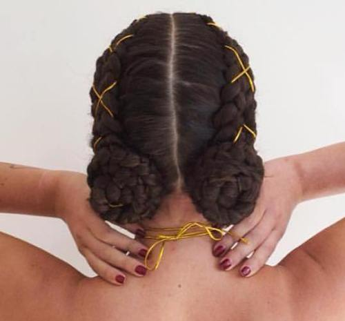 Two Braided Side Buns