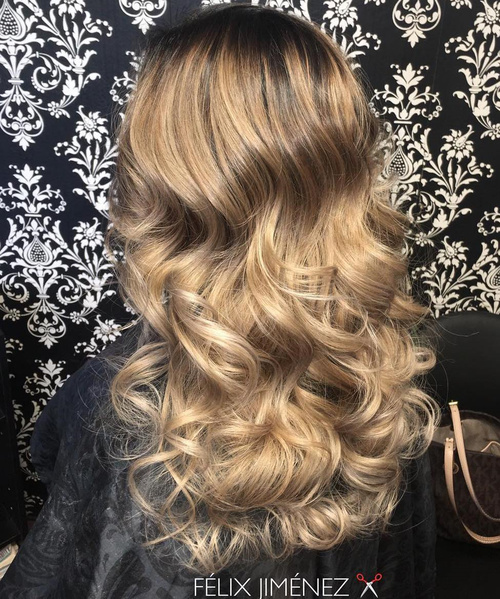 golden medium brown hair color