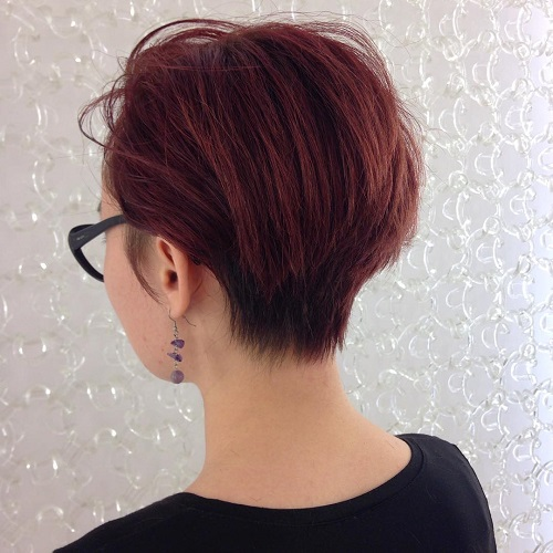 Layered Short Wedge Haircuts for Women