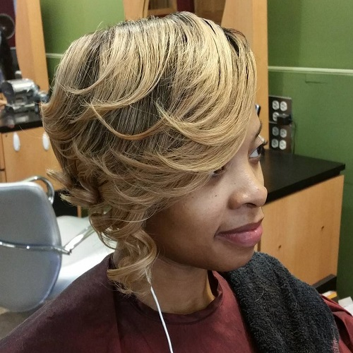 Short Blonde Weave Hairstyle
