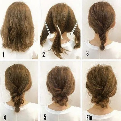 Simple Messy Updo For Medium Hair Tutorial