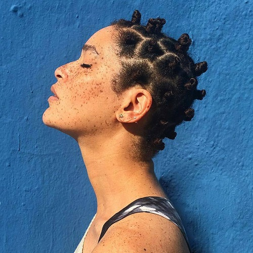 Bantu Knots On Short Hair