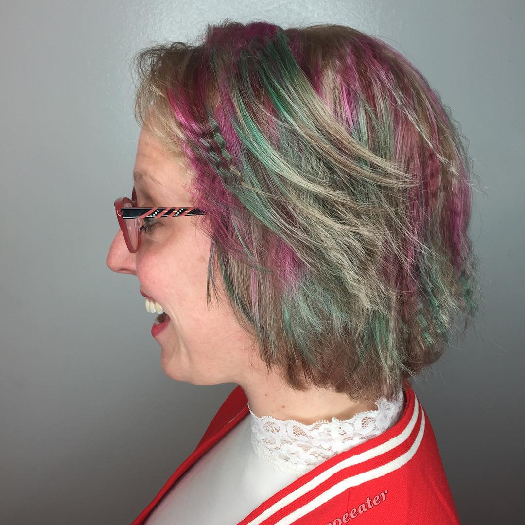 Funky Crimped Bob For Fine Hair
