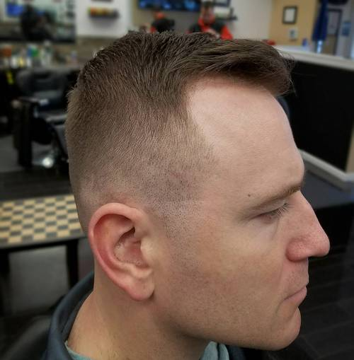 crew cut for thinning hair