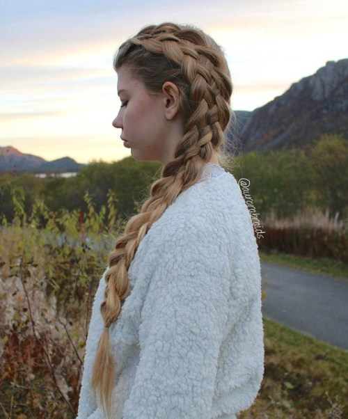 Side Strand Braid For Long Hair