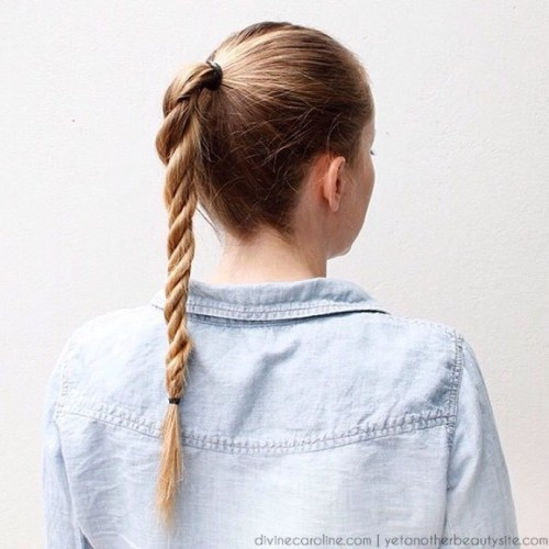 Rope Twisted Ponytail
