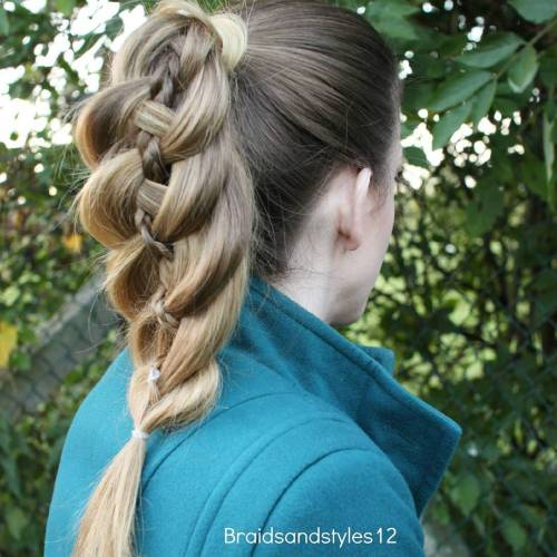Four Strand Ponytail Braid