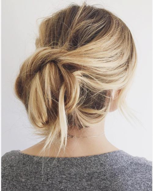 Messy Chignon With A Twist
