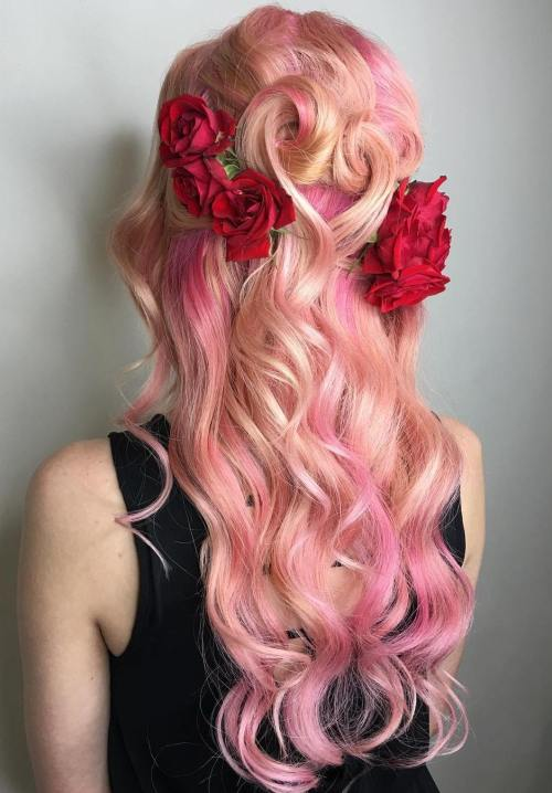 Pastel Pink Hair With Highlights