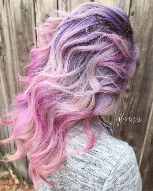 20 Cotton Candy Hairstyles That Are As Sweet As Can Be