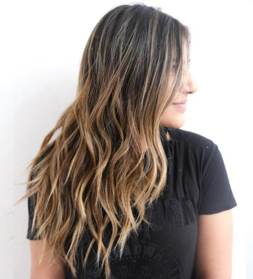 Brown Balayage Ombre For Long Hair