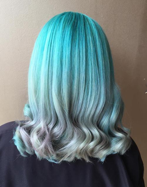 Teal To Gray Ombre