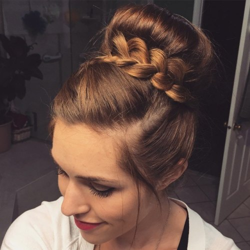Ballerina Bun With A Braid
