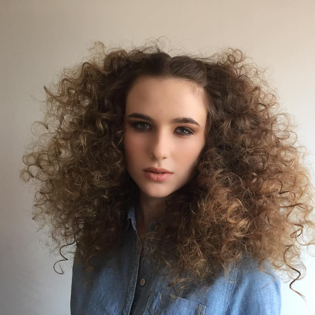 Fluffy Voluminous Curly Hairstyle