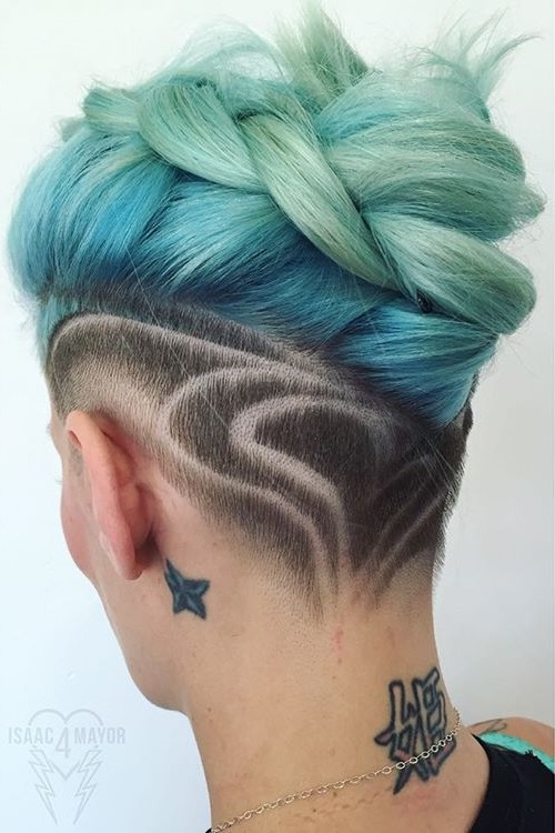 Pastel Blue Undercut Hairstyle
