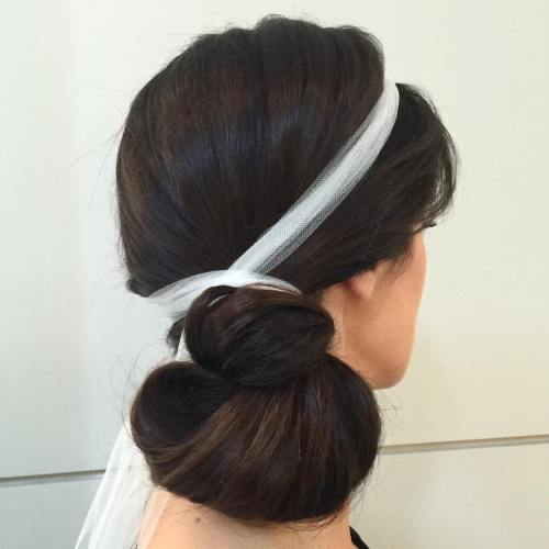 Side Knot Updo For Long Hair