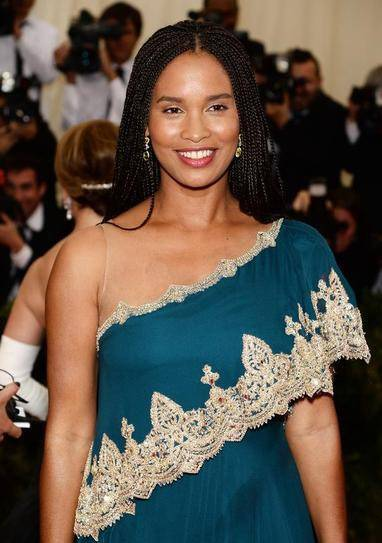 Joy Bryant black braided hairstyle